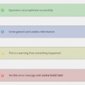 Example of message boxes shortcode